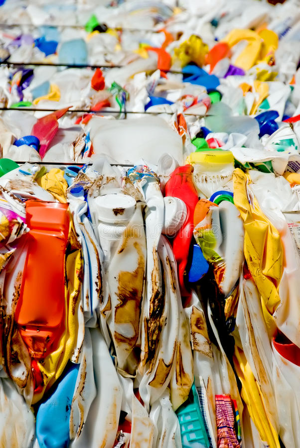 Recycleer plastieken stock afbeeldingen