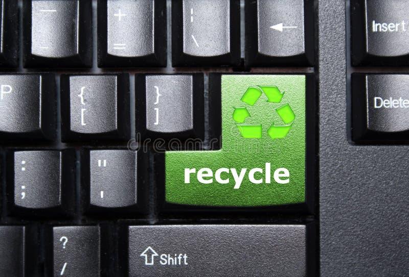 Recycleer sleutel royalty-vrije stock afbeeldingen