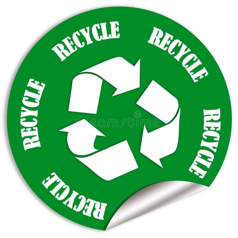 Recycleer sticker vector illustratie