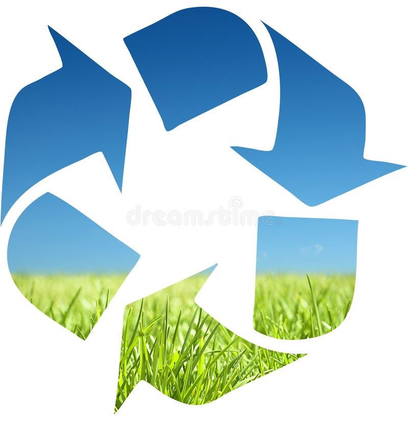 Recycleer symbool royalty-vrije stock foto