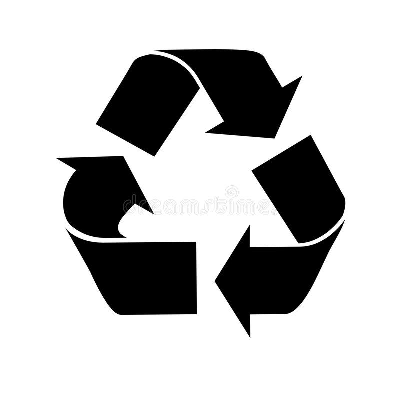 RECYCLEER SYMBOOL vector illustratie