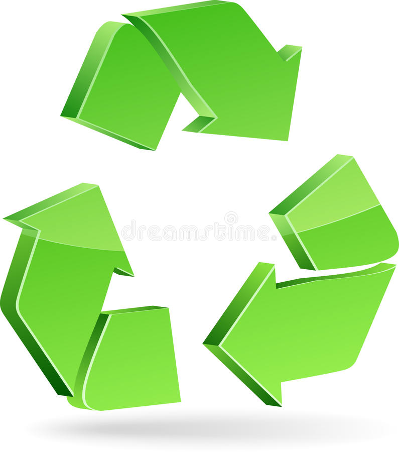 Recycleer symbool. stock illustratie