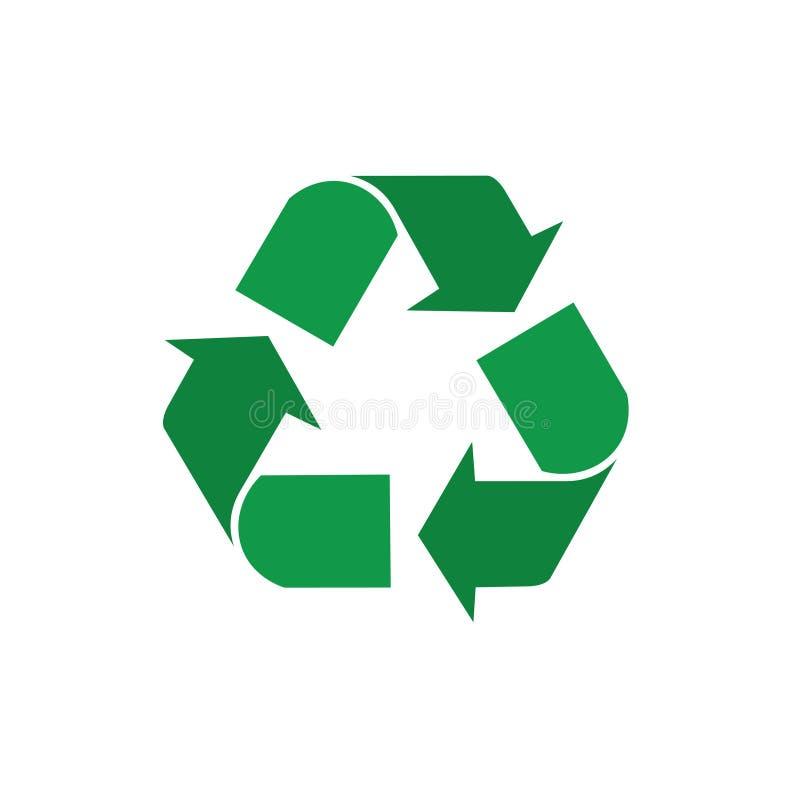 Recycleer Symbool Groene Pijlen Logo Web Icon stock illustratie