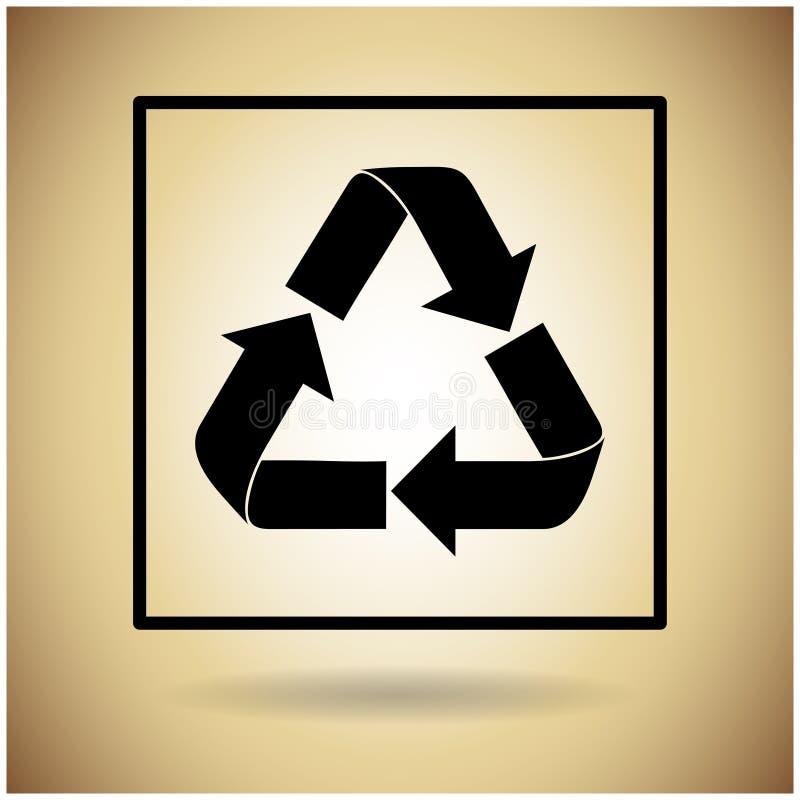 Recycleer Symbool Logo Web Icon vector illustratie