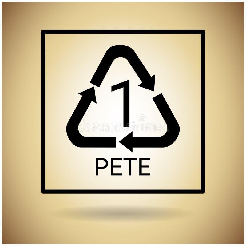 Recycleer Symbool Logo Web Icon stock illustratie