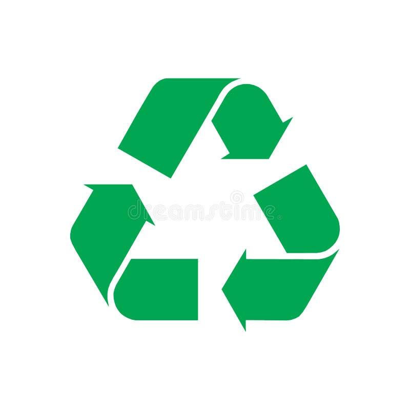Recycleer Symbool, op Witte Achtergrond wordt geïsoleerd, Vectorillustratie die vector illustratie