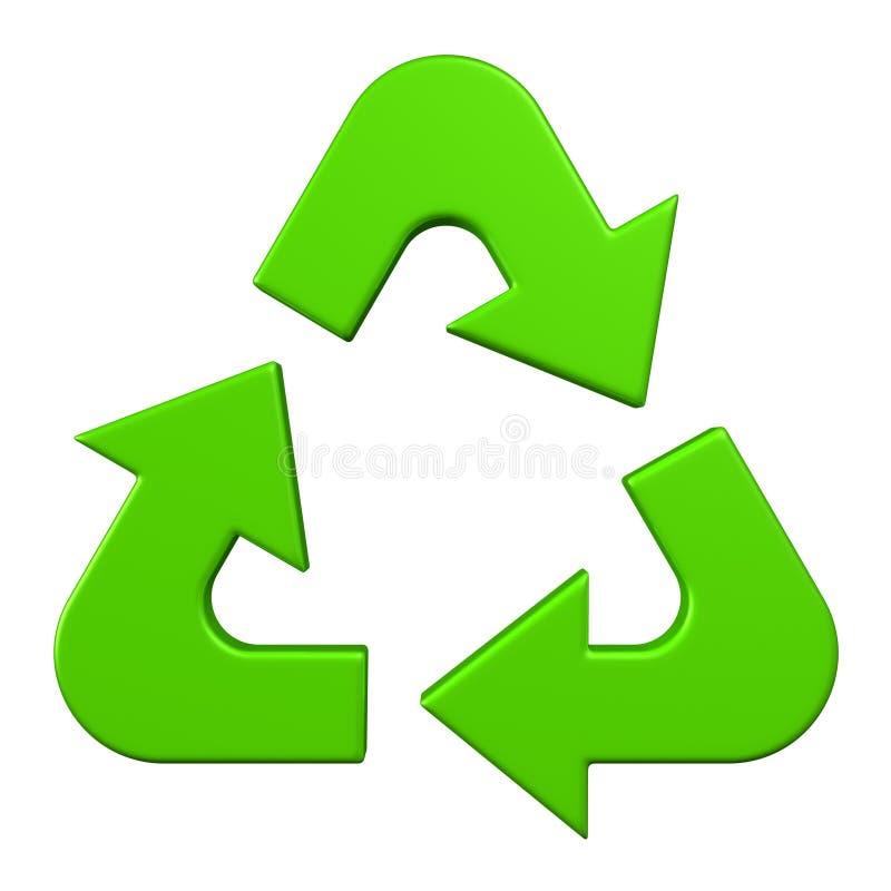 Recycleer teken royalty-vrije illustratie