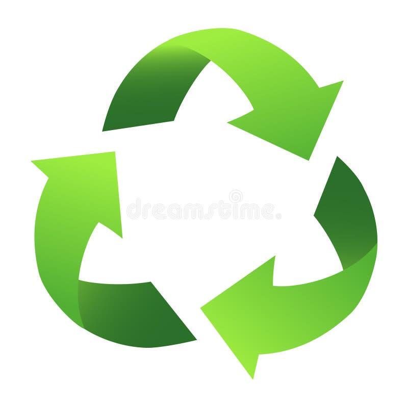 Recycleer teken stock illustratie