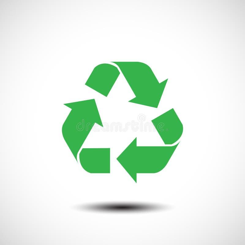 Recycleer teken op witte achtergrond wordt geïsoleerd die royalty-vrije illustratie