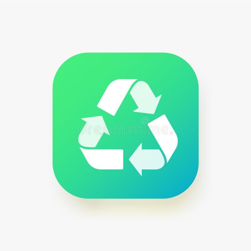 Recycleer teken Vectordieillustratie op witte achtergrond wordt geïsoleerd Van het de Ecologie de bioafval van het afvalsymbool v stock illustratie