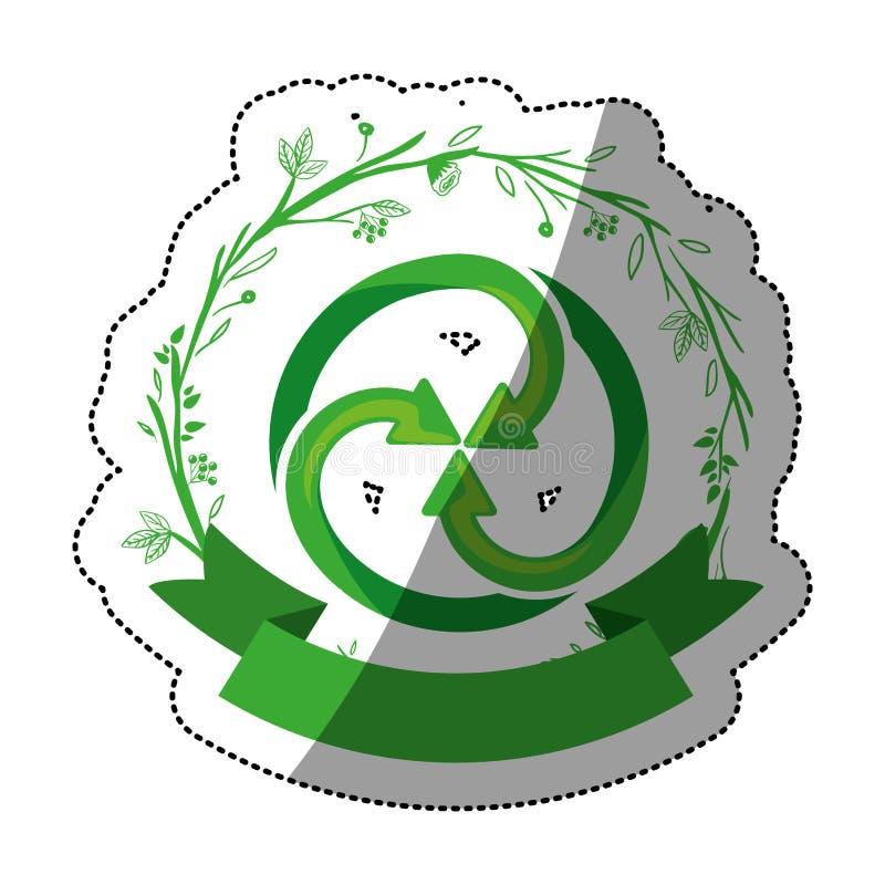 recycleer tekenontwerp stock illustratie