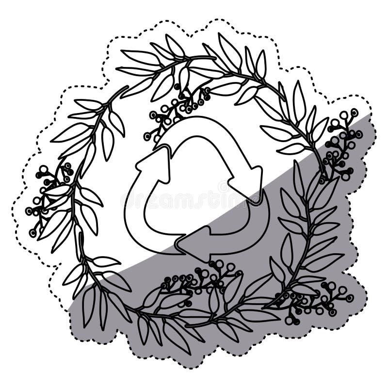 recycleer tekenontwerp vector illustratie