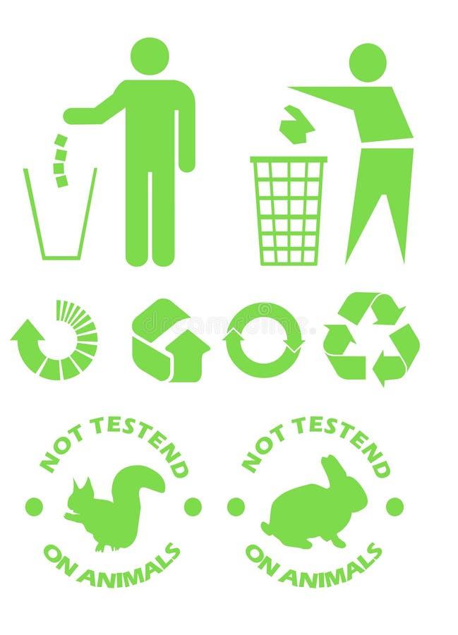 Recycleer tekens vector illustratie