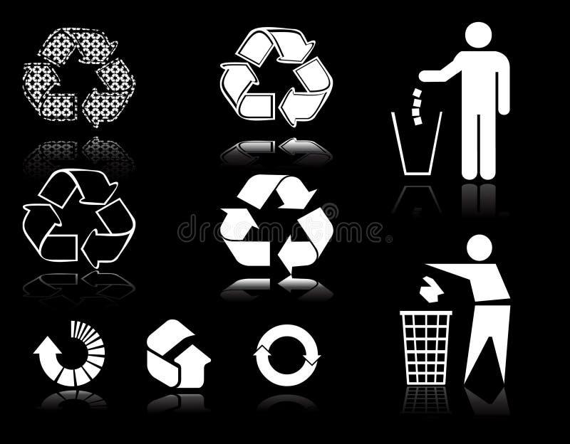Recycleer tekens stock illustratie