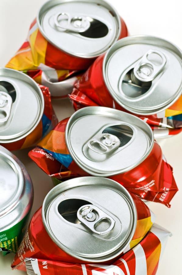 Recycleer tin royalty-vrije stock afbeeldingen