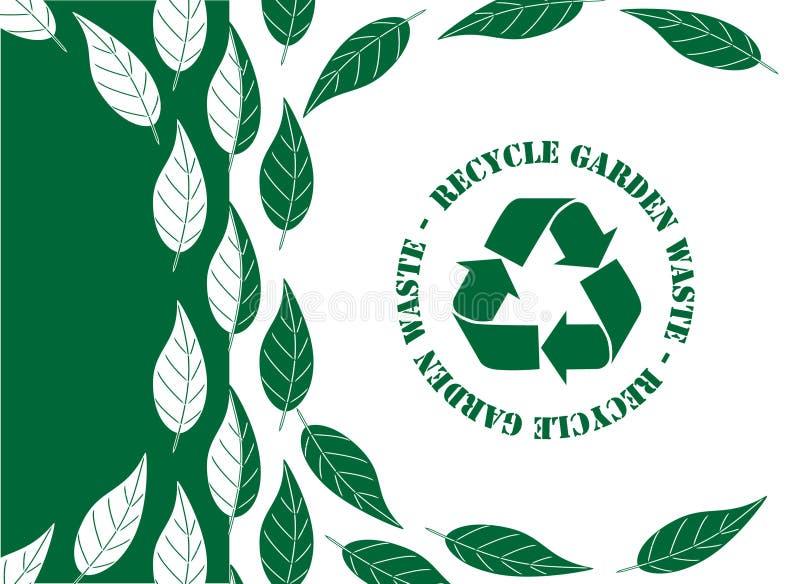 Recycleer tuinafval stock illustratie