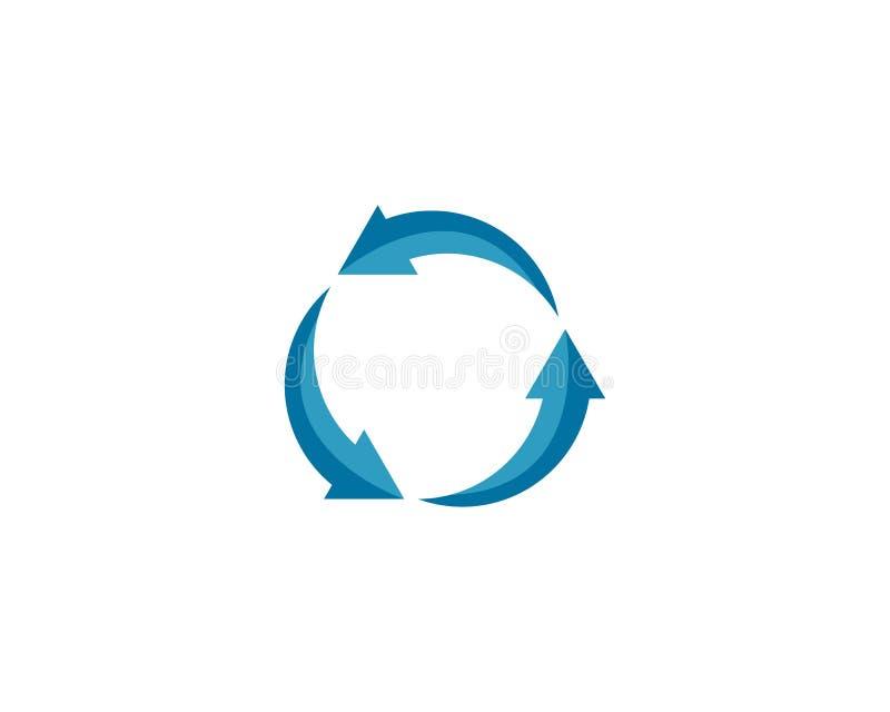 Recycleer vectorembleem royalty-vrije illustratie