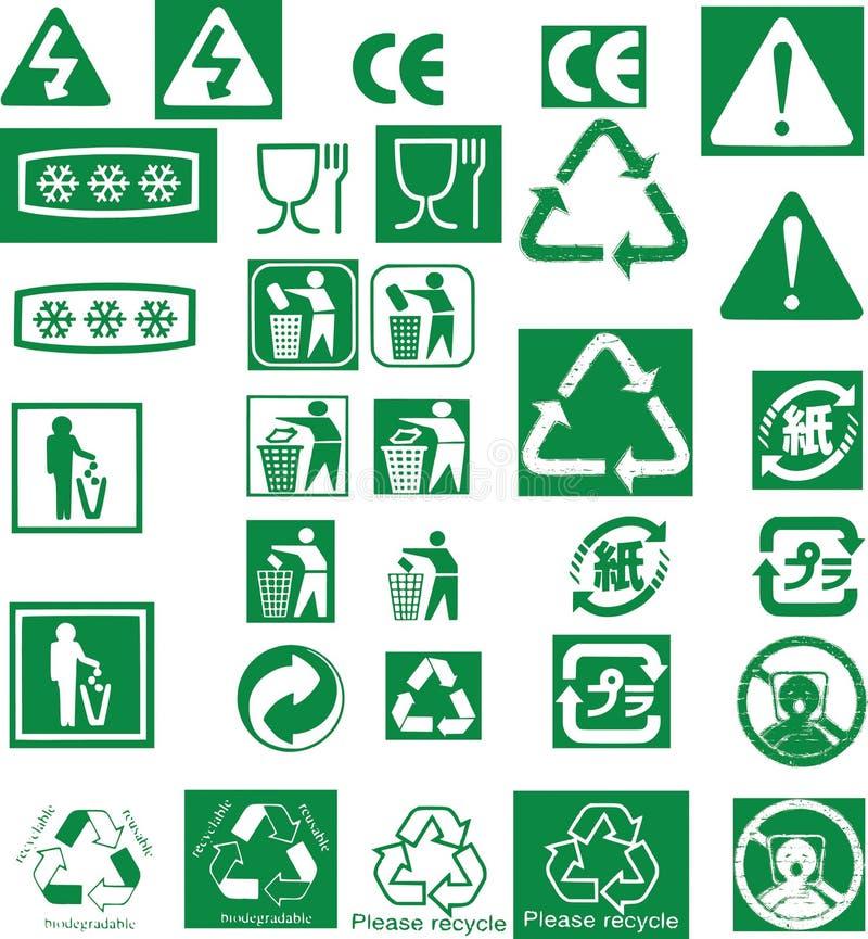 Recycleer vectorsymboolzegel vector illustratie