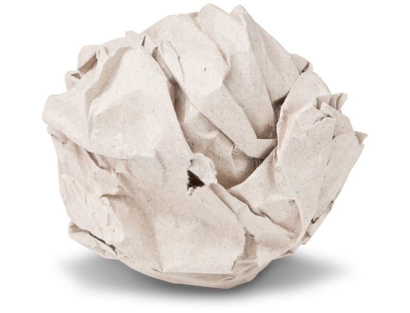Recycleer verfrommelde document bal royalty-vrije stock afbeelding