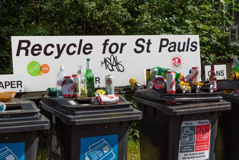 Recycleer voor St Pauls royalty-vrije stock foto