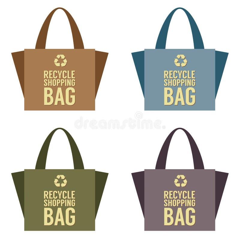 Recycleer zak vector illustratie