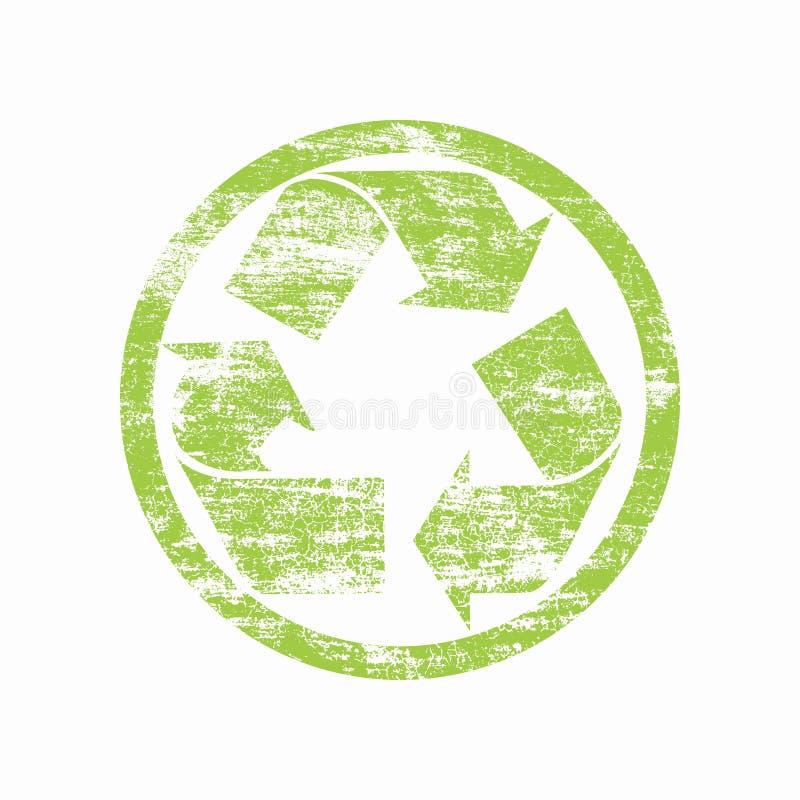 Recycleer zegel royalty-vrije illustratie