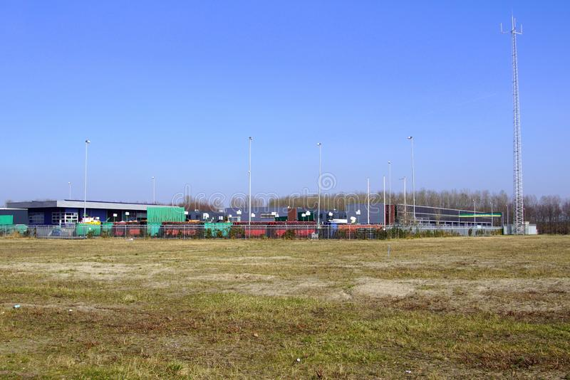 Recycleperron holandês - Almere, os Países Baixos foto de stock