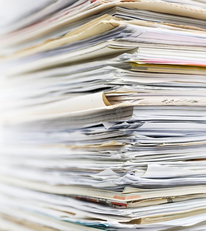 Recyclerend document royalty-vrije stock foto's