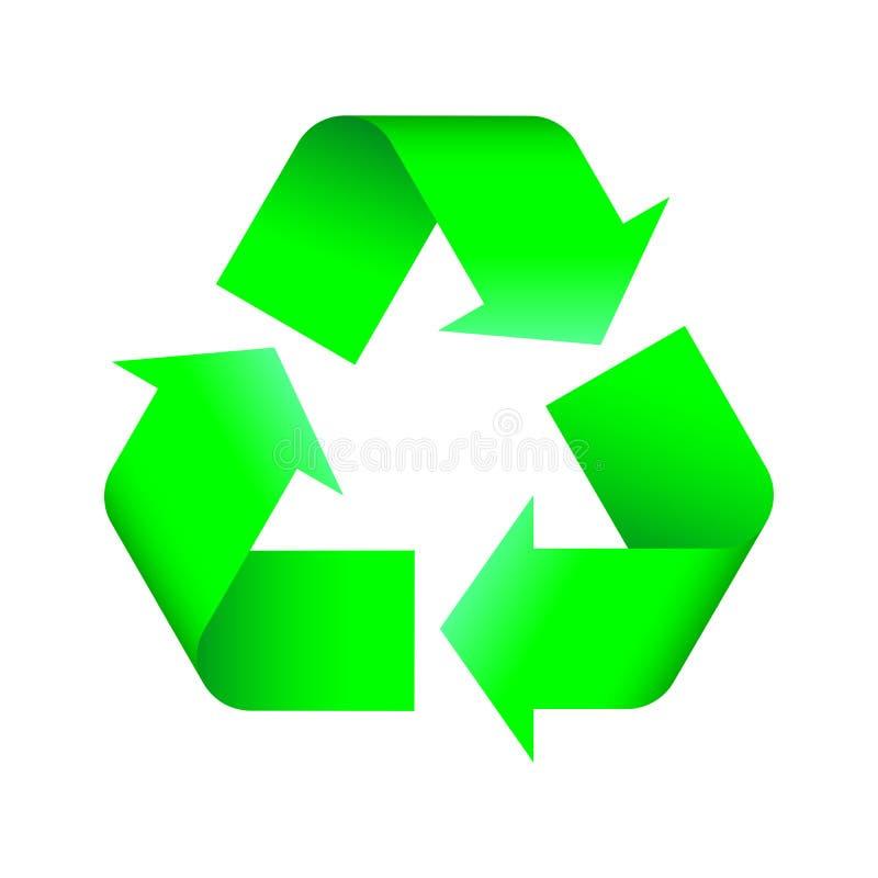 Recyclerend embleem vector illustratie