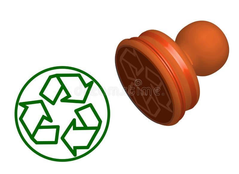 Recyclerend geïsoleerde tekenzegel vector illustratie