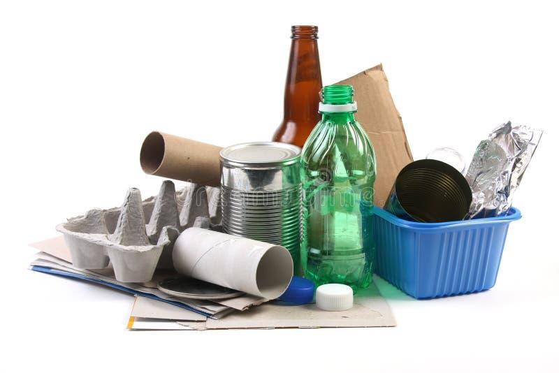 Recyclerend huisvuil royalty-vrije stock afbeeldingen