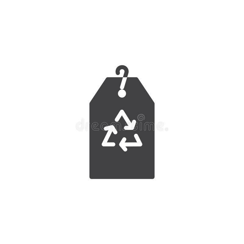 Recyclerend markerings vectorpictogram stock illustratie