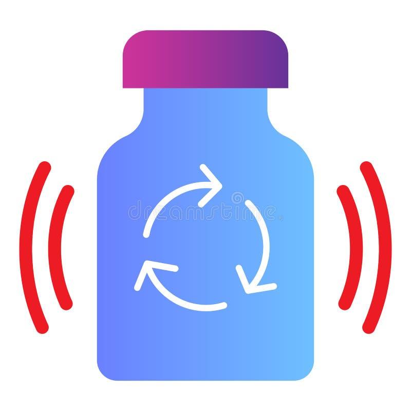 Recyclerend medicijn vlak pictogram Recycleer de pictogrammen van de drugskleur in in vlakke stijl Geneeskundepillen die gradiën royalty-vrije illustratie