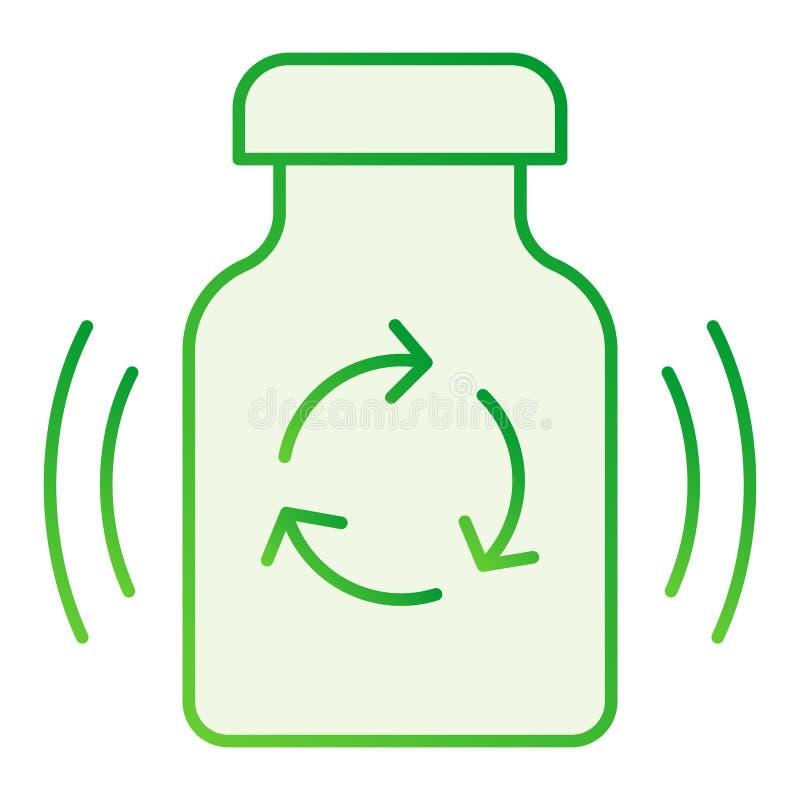 Recyclerend medicijn vlak pictogram Recycleer drugs grijze pictogrammen in in vlakke stijl Geneeskundepillen die gradiëntstijl r stock illustratie
