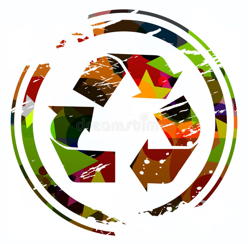 Recyclerend pictogram vector illustratie