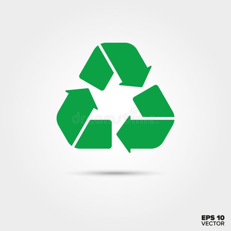 Recyclerend pictogram Duurzaam en verantwoordelijk acterensymbool royalty-vrije illustratie