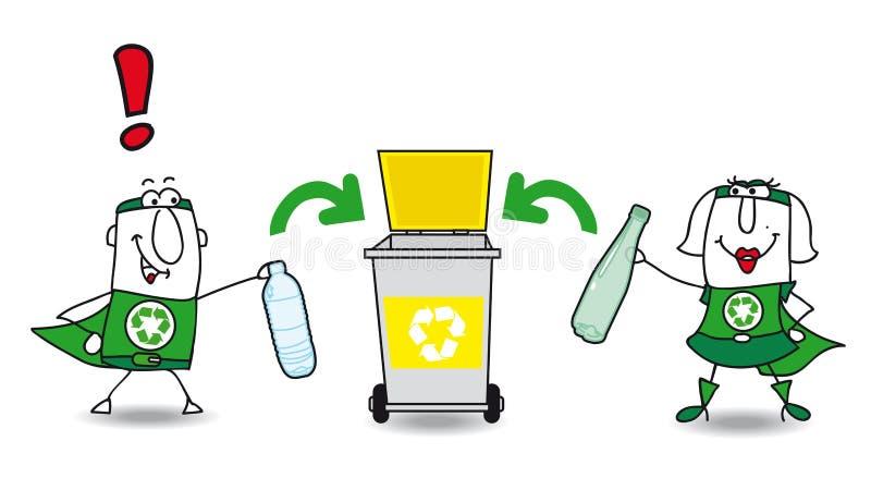 Download Recyclerend Plastiek vector illustratie. Illustratie bestaande uit mensen - 54081871