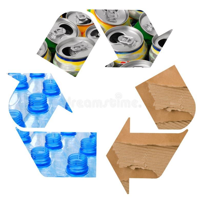 Recyclerend symbool royalty-vrije stock afbeeldingen