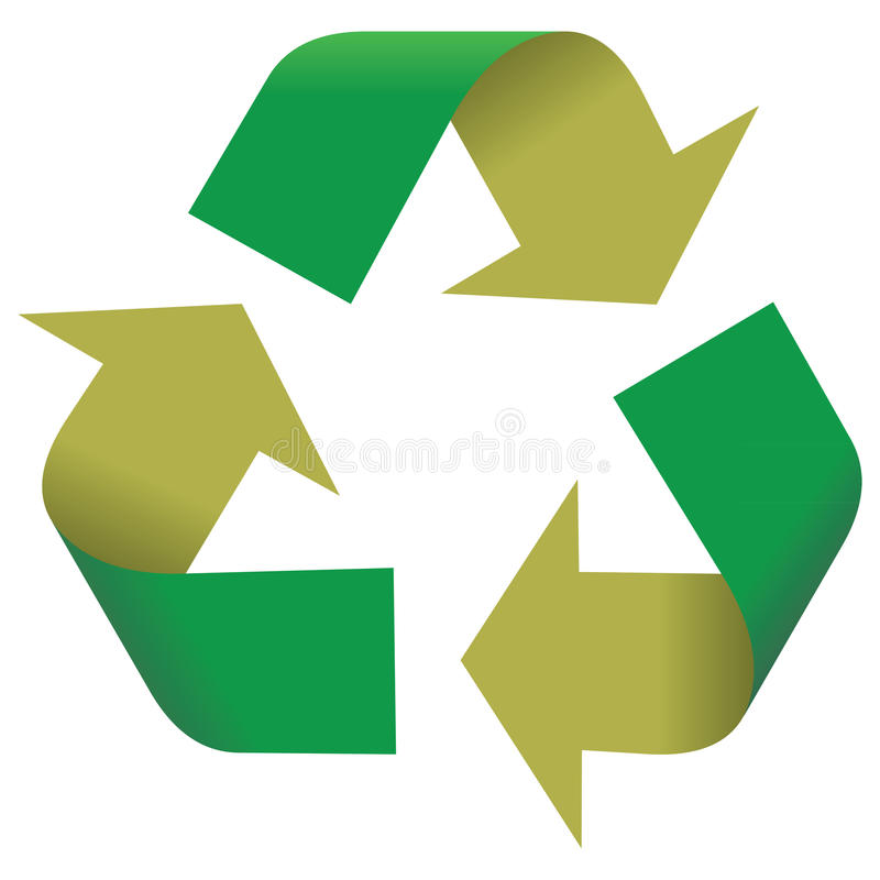 Recyclerend Symbool vector illustratie