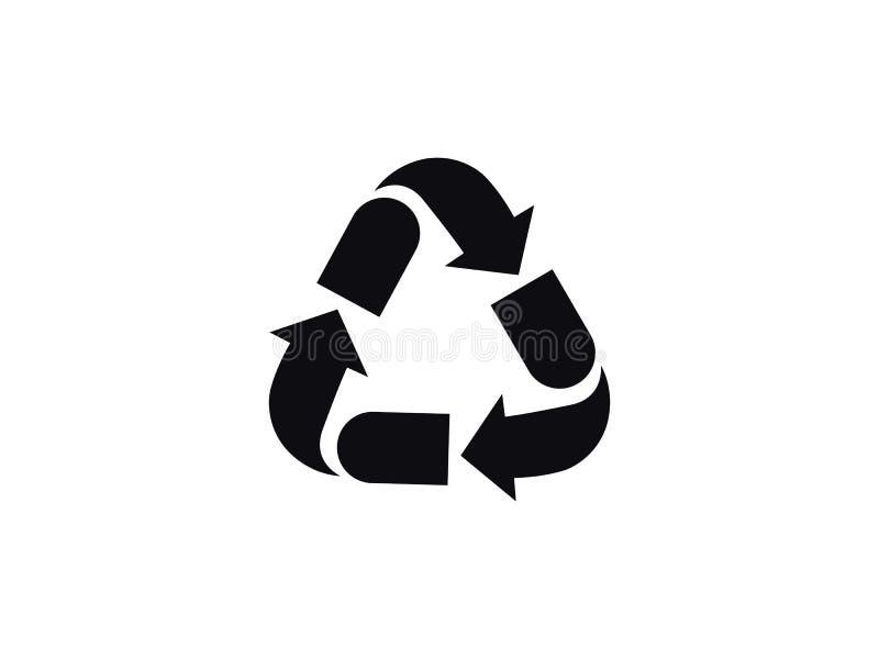 Recyclerend vectorpictogram royalty-vrije stock foto's