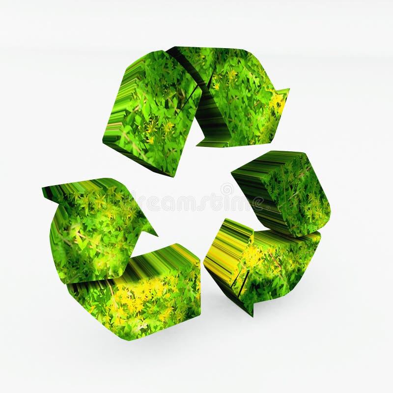 Recyclerende 3d pijlen vector illustratie
