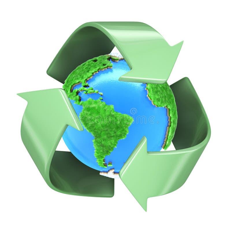 Recyclerende Aarde vector illustratie