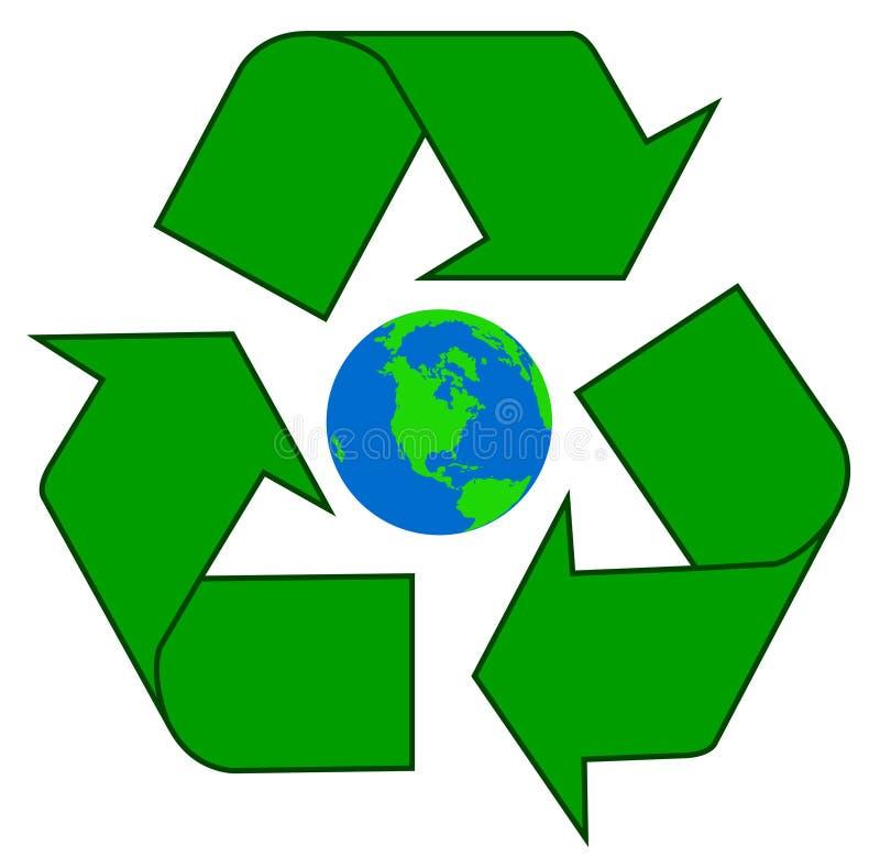 Recyclerende aarde royalty-vrije stock fotografie