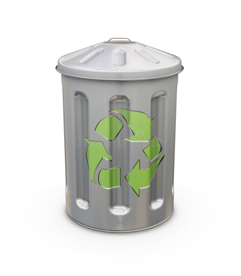 Recyclerende bak royalty-vrije illustratie