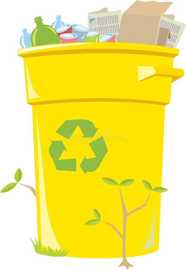 Recyclerende Bak vector illustratie