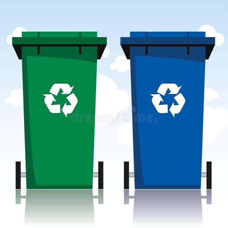Recyclerende Bakken royalty-vrije illustratie