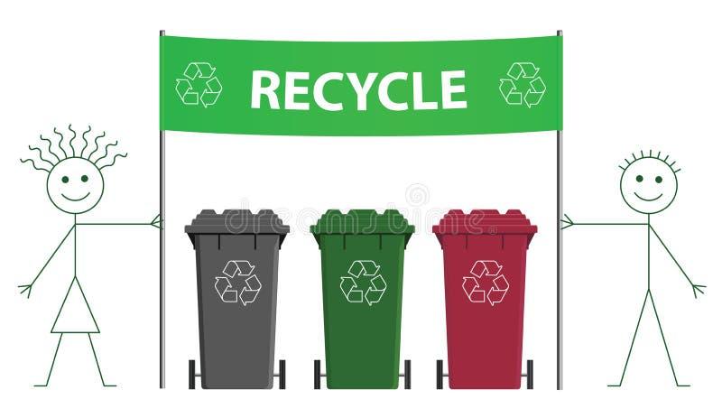 Recyclerende banner stock illustratie