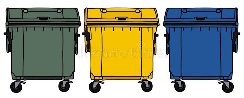 Recyclerende containers vector illustratie