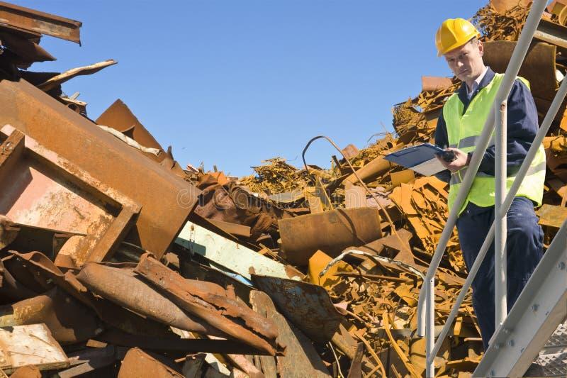 Recyclerende deskundige stock afbeeldingen
