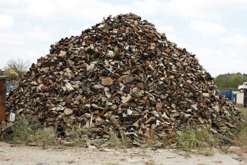 Recyclerende Katalytische Convertors royalty-vrije stock afbeeldingen
